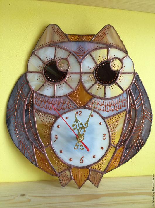 """Часы для дома ручной работы. Ярмарка Мастеров - ручная работа. Купить Часы  """"Сова"""" и """"Слон"""". Handmade. Коричневый, сова"""