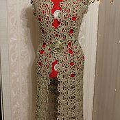 Одежда handmade. Livemaster - original item Vest-cardigan, longline jute