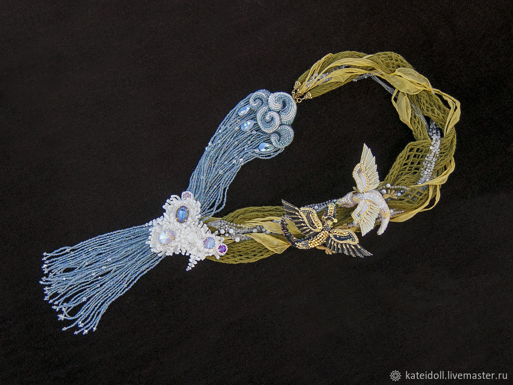 Necklace 'Quiet pool' with dragons, Necklace, Kiev,  Фото №1