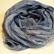 Аксессуары ручной работы. Ярмарка Мастеров - ручная работа Шарф из вареной итальянской ткани джинса. Handmade.