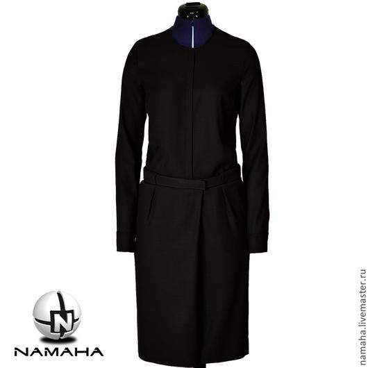 Платья ручной работы. Ярмарка Мастеров - ручная работа. Купить Платье деловое чёрное, платье на заказ, Платье с запахом офисное. Handmade.