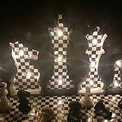 Для дома и интерьера handmade. Livemaster - original item Night light for fans of Chess. Handmade.