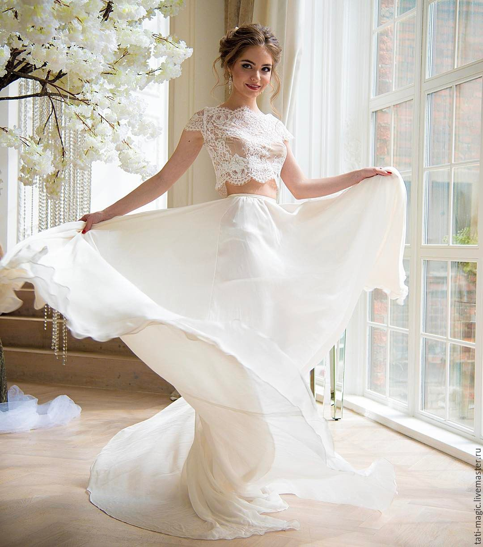 Свадебное платье топ кроп купить