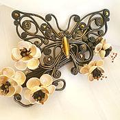 Украшения handmade. Livemaster - original item Butterfly leather. Handmade.