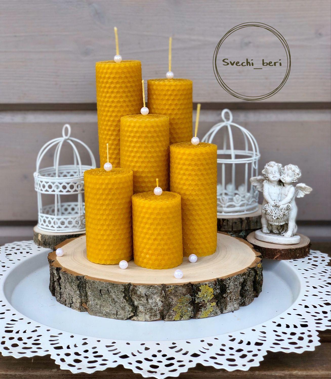 Свечи из вощины диаметр 4,5 см, Свечи, Санкт-Петербург,  Фото №1