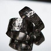 Свадебный салон ручной работы. Ярмарка Мастеров - ручная работа Кованые кольца с чеканкой. Handmade.