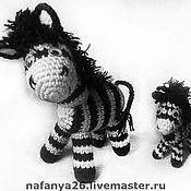 Куклы и игрушки ручной работы. Ярмарка Мастеров - ручная работа Зебра (лошадка). Мама и малыш.. Handmade.