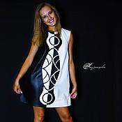 Платья ручной работы. Ярмарка Мастеров - ручная работа Платье из кожи Black and White. Handmade.