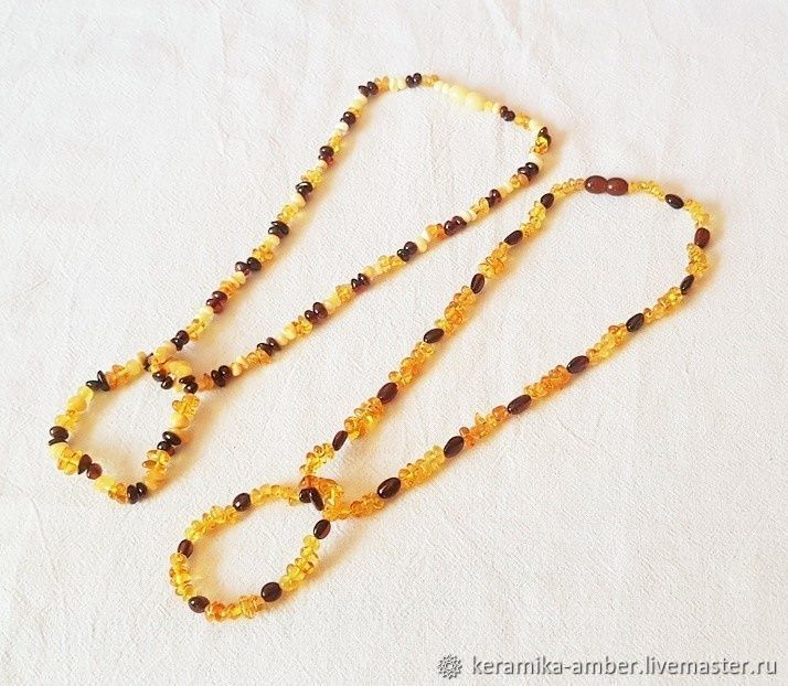 ef97ceb1b9073 Necklaces & Beads handmade. Livemaster - handmade. Buy Amber beads baby  bracelet 39 cm ...
