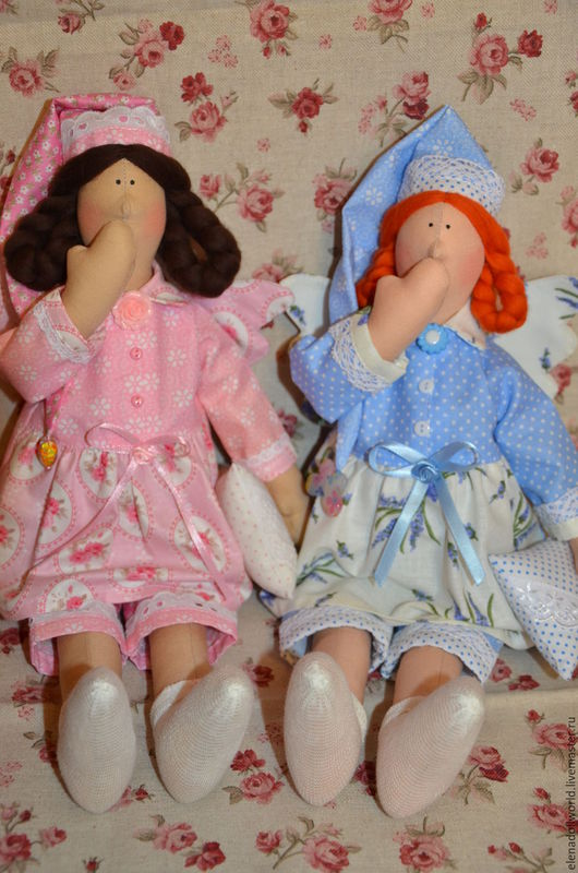 Куклы Тильды ручной работы. Ярмарка Мастеров - ручная работа. Купить Тильда сплюшка. Handmade. Голубой, текстильная кукла, для спальни