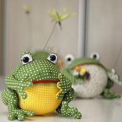 Stuffed Toys handmade. Livemaster - original item frog. Handmade.