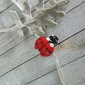 Материалы для творчества ручной работы. Ярмарка Мастеров - ручная работа Бусина для браслета Божья коровка. Handmade.