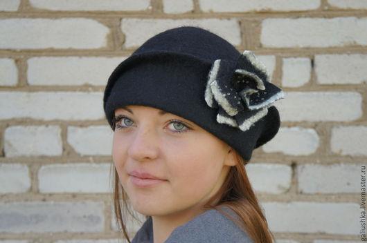 """Шляпы ручной работы. Ярмарка Мастеров - ручная работа. Купить Шляпа валяная """" Триумф """". Handmade. Черный"""