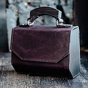 Сумки и аксессуары handmade. Livemaster - original item Amely-leather women`s handbag plum. Handmade.