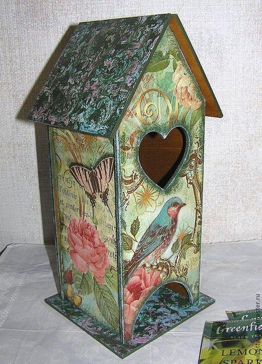 """Кухня ручной работы. Ярмарка Мастеров - ручная работа. Купить Чайный домик """"Птица удачи"""". Handmade. Чайная коробка"""