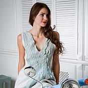 """Одежда ручной работы. Ярмарка Мастеров - ручная работа Валяное платье """"Pale Blue"""". Handmade."""