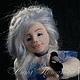Коллекционные куклы ручной работы. Ярмарка Мастеров - ручная работа. Купить Авторская войлочная кукла Январенька. Handmade. Голубой, месяц