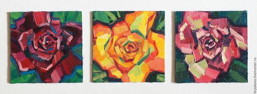 Анна Крюкова (impression-живопись) Роза картина Розы яркие Яркие цветы холст масло