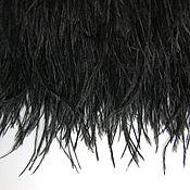 Материалы для творчества handmade. Livemaster - original item Trim of ostrich feathers 10-15 cm black. Handmade.