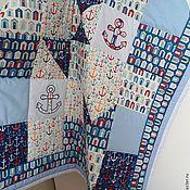 Для дома и интерьера ручной работы. Ярмарка Мастеров - ручная работа Одеяло лоскутное Морское. Handmade.