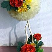"""Цветы и флористика ручной работы. Ярмарка Мастеров - ручная работа Топиарий    """"Нежность  заката"""". Handmade."""