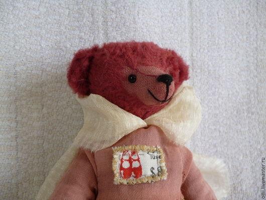 Мишки Тедди ручной работы. Ярмарка Мастеров - ручная работа. Купить Мишка Агния. Handmade. Бордовый, авторская ручная работа