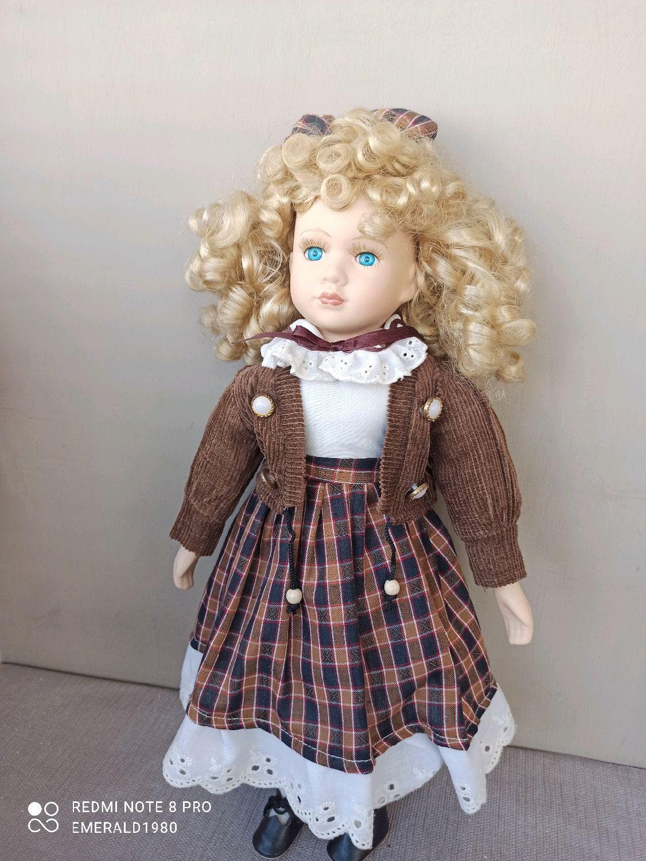 Винтаж: Кукла фарфор Германия 40 см 90 е гг, Куклы винтажные, Краснодар,  Фото №1