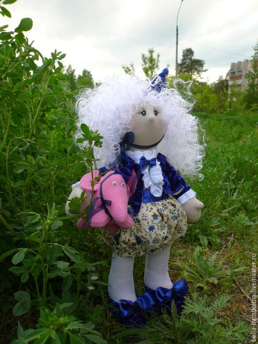 Коллекционные куклы ручной работы. Ярмарка Мастеров - ручная работа. Купить клоунесса Николь. Handmade. Тёмно-синий, кукла в подарок