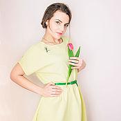 """Одежда ручной работы. Ярмарка Мастеров - ручная работа Платье """"Лимонная пастель"""".. Handmade."""