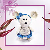Мягкие игрушки ручной работы. Ярмарка Мастеров - ручная работа Игрушки:Мышка - балерина из велюровой пряжи. Handmade.