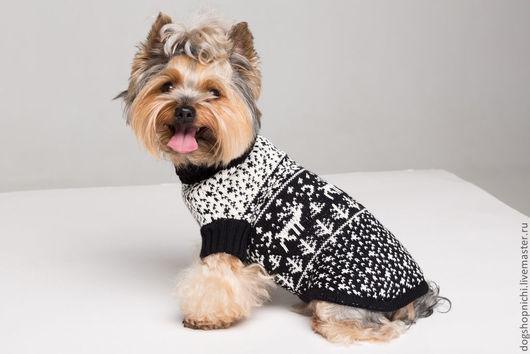 Одежда для собак, ручной работы. Ярмарка Мастеров - ручная работа. Купить Свитер для собак с оленями авторская работа. Handmade. йорк