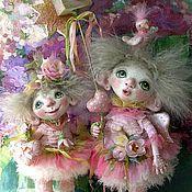 Куклы и игрушки ручной работы. Ярмарка Мастеров - ручная работа Куклы ангелы Весенние  из полимерной глины. Handmade.