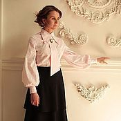 Одежда handmade. Livemaster - original item Women`s blouse with tie