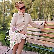 """Одежда ручной работы. Ярмарка Мастеров - ручная работа Вязаное пальто """"Нежные лилии-2"""". Handmade."""