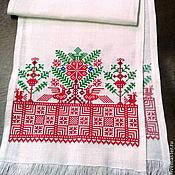 Русский стиль handmade. Livemaster - original item The towel Tree and Birds. Handmade.