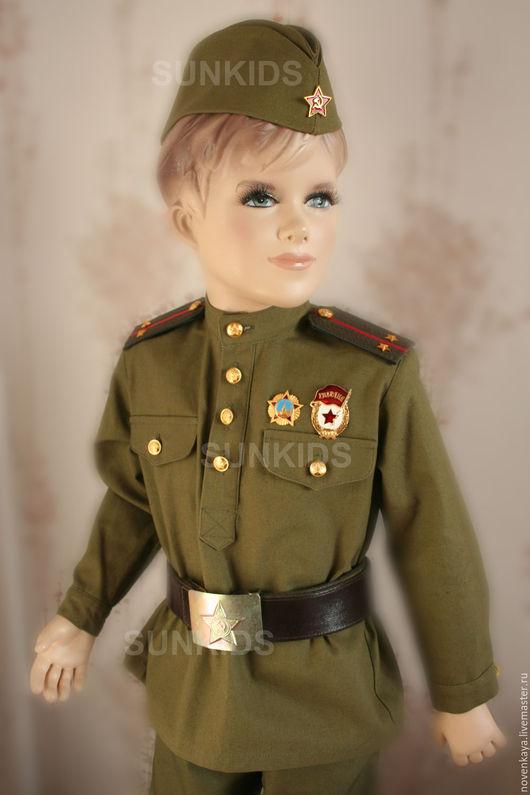 Костюмы ручной работы. Ярмарка Мастеров - ручная работа. Купить Военная детская форма. Handmade. Хаки, гимнастерка, ремень армейский