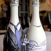 Свадебный салон ручной работы. Ярмарка Мастеров - ручная работа Декор бутылок. Handmade.