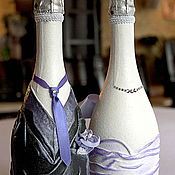 Бутылки ручной работы. Ярмарка Мастеров - ручная работа Декор свадебных бутылок. Handmade.