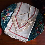 Винтаж handmade. Livemaster - original item Dish Towel, Kuznetsov, faience, loss, before 1917. Handmade.