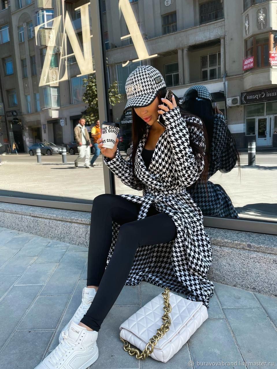 Trendy coat with a belt, Coats, Vologda,  Фото №1