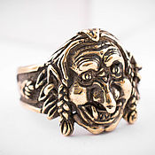 Украшения ручной работы. Ярмарка Мастеров - ручная работа Металлическое кольцо, перстень из бронзы, славянская символика. Handmade.