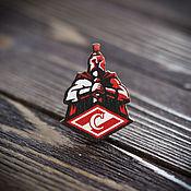 Украшения handmade. Livemaster - original item Wood badge Spartak. Handmade.