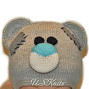 Аксессуары handmade. Livemaster - original item Children`s knitted hat with ears ties Teddy Bear. Handmade.