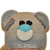 Работы для детей, handmade. Livemaster - original item Children`s knitted hat with ears ties Teddy Bear. Handmade.