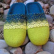 """Обувь ручной работы. Ярмарка Мастеров - ручная работа Валяные тапочки """" Тёплый подарок"""". Handmade."""