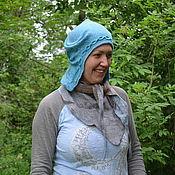 Аксессуары ручной работы. Ярмарка Мастеров - ручная работа Шапка-шлем Ледяная всадница. Handmade.