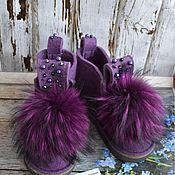 """Обувь ручной работы. Ярмарка Мастеров - ручная работа Валеши с мехом """"Туман"""". Handmade."""