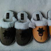 Обувь ручной работы. Ярмарка Мастеров - ручная работа тапочки из мутона. Handmade.