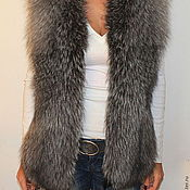 Одежда handmade. Livemaster - original item Fur vest from the silver Fox. Handmade.
