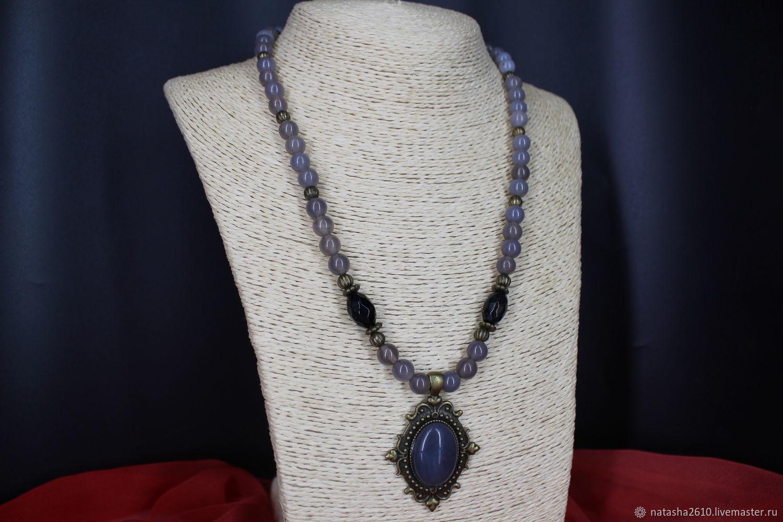 Necklace with agate pendant ' Harmony', Necklace, Velikiy Novgorod,  Фото №1